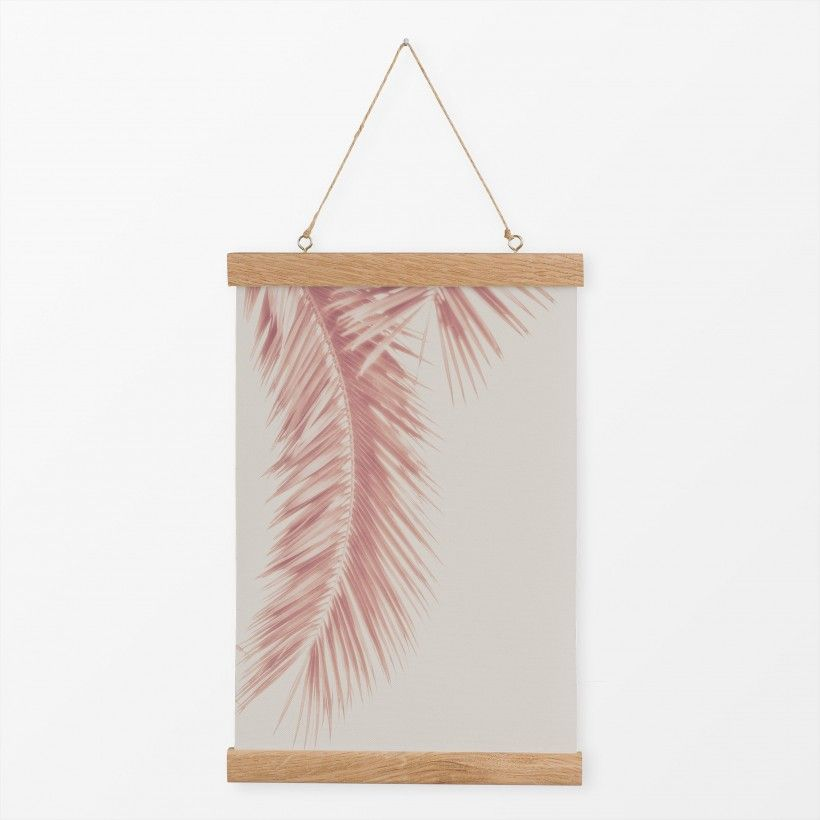 Textilposter Rose Palm Leaves