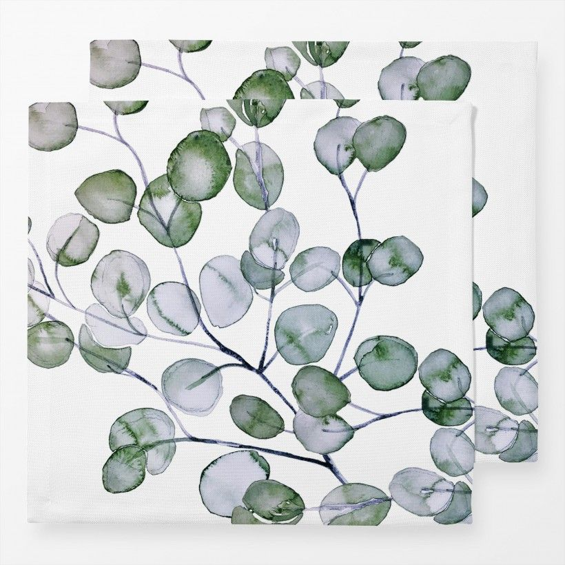 Servietten Eucalyptus Watercolor Silver Green