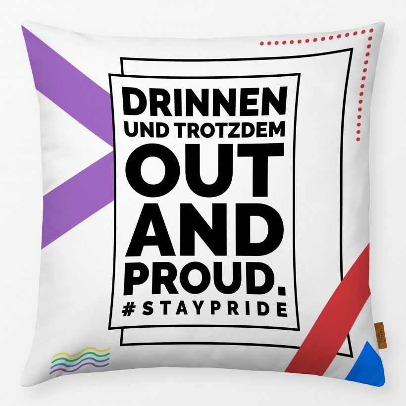 Kissen Out And Proud 3 #staypride