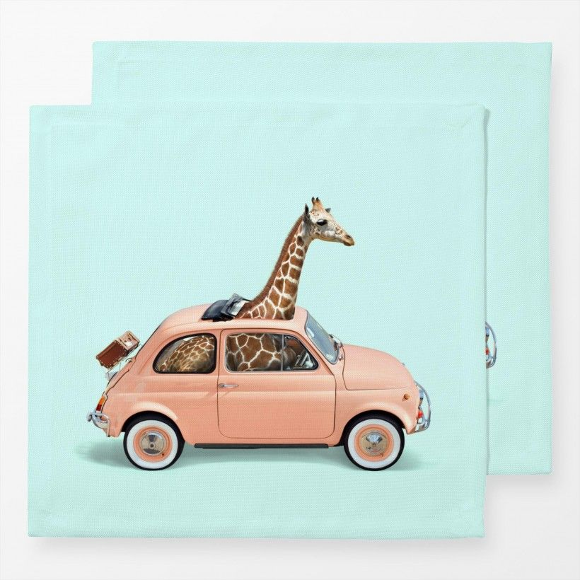 Servietten Giraffe Car