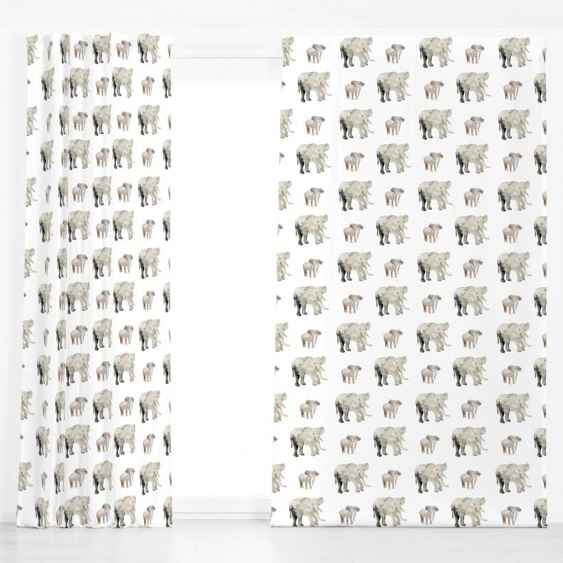 Curtain Elephant Pattern