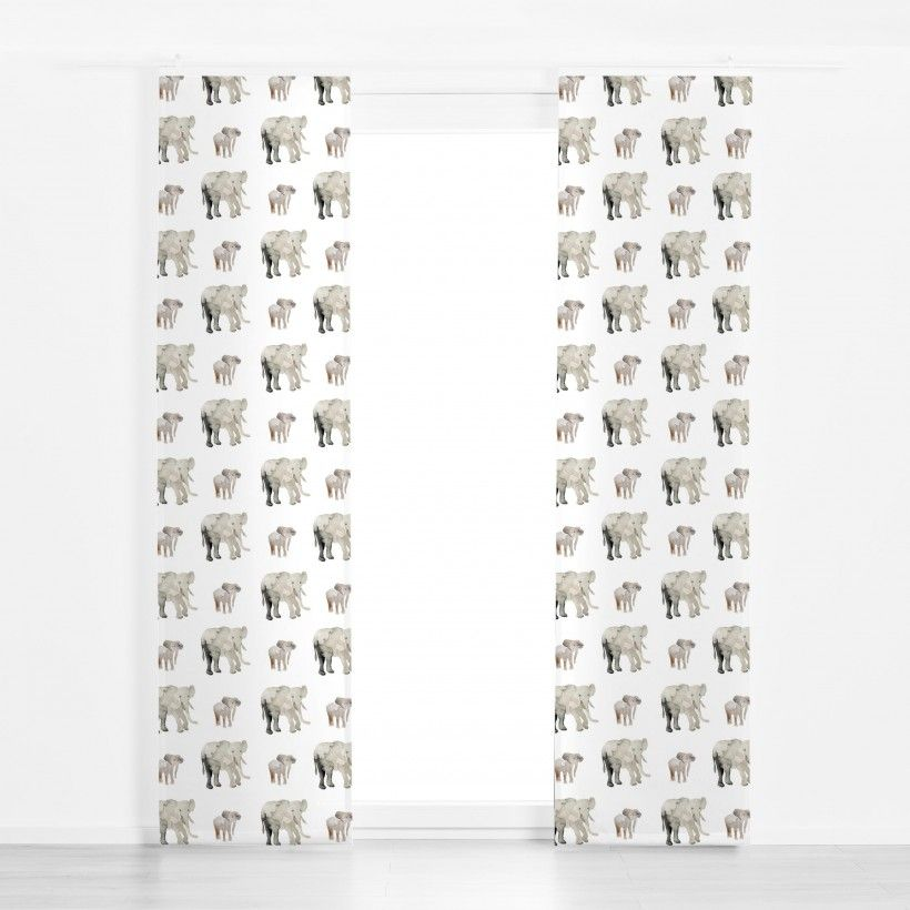 Panel curtain Elephant Pattern