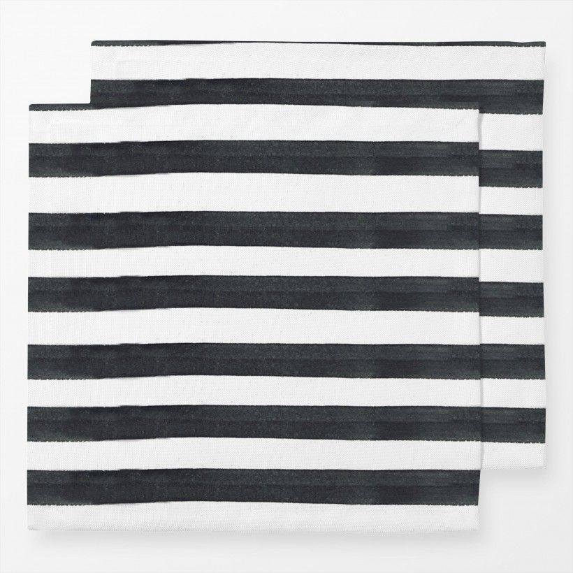 Servietten Black Stripes