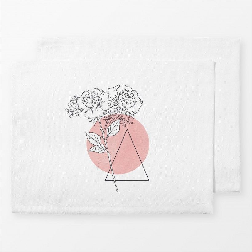 Table mat Tattoo Rose Blush