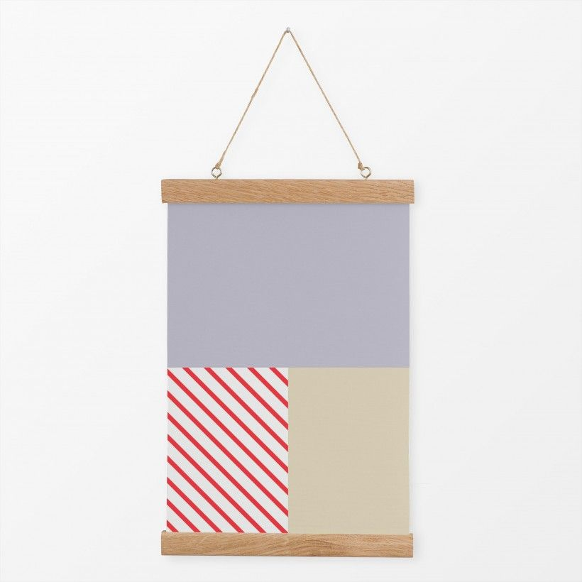 Textilposter Mixed Stripes Red