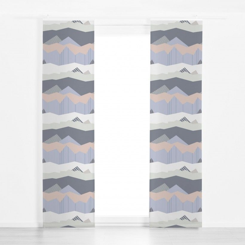 Panel curtain Color Blocking Landscape 1