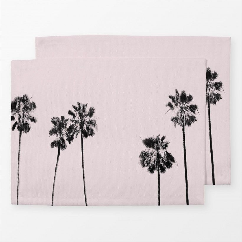 Tischset Blush Palm Trees