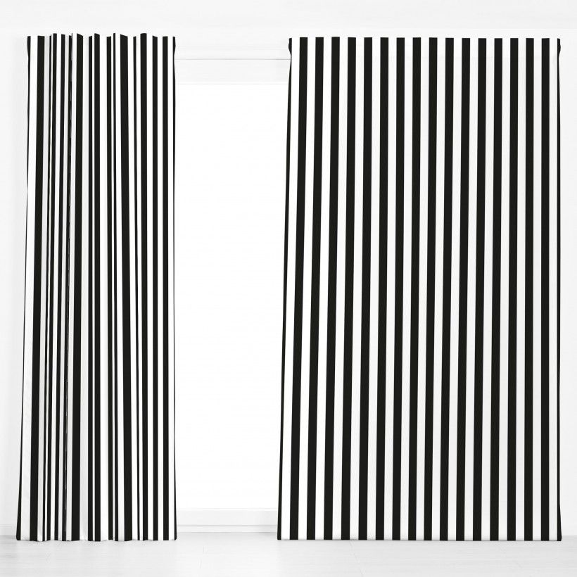 Vorhang Black & White Memphis Stripes