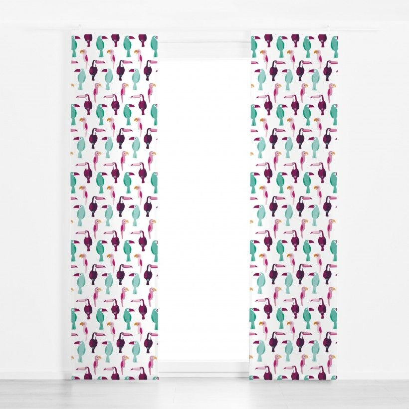 Panel curtain Tropical Birds