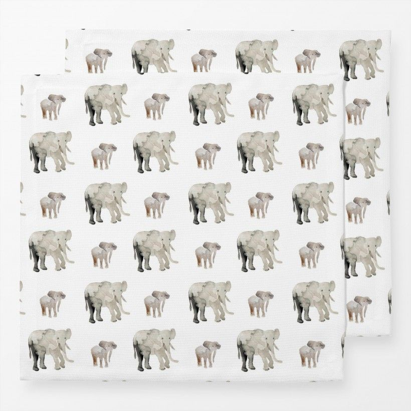 Napkins Elephant Pattern