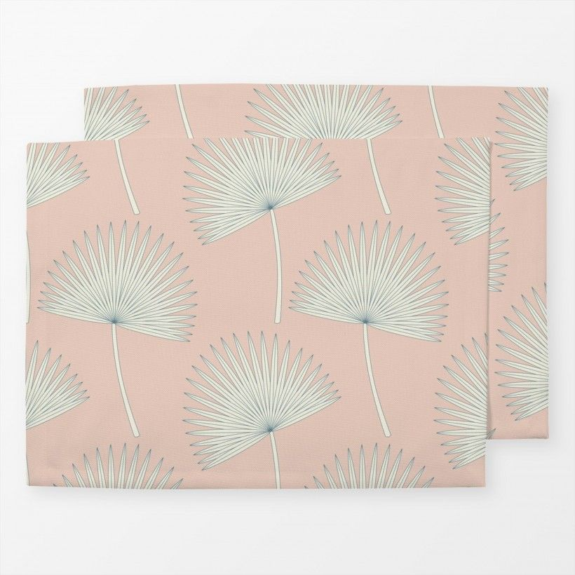 Tischset sunshine palm leave pink