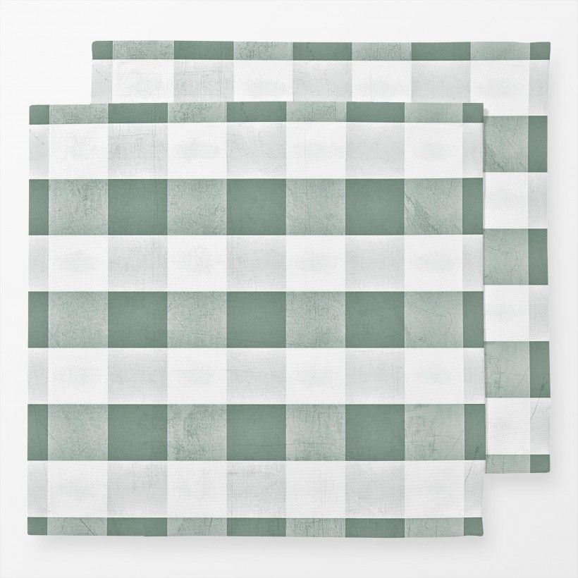 Servietten Eucalyptus Green Gingham Check
