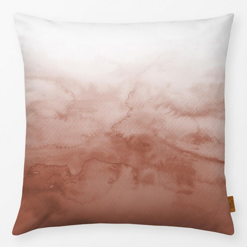 Kissen Watercolor Gradient terracotta