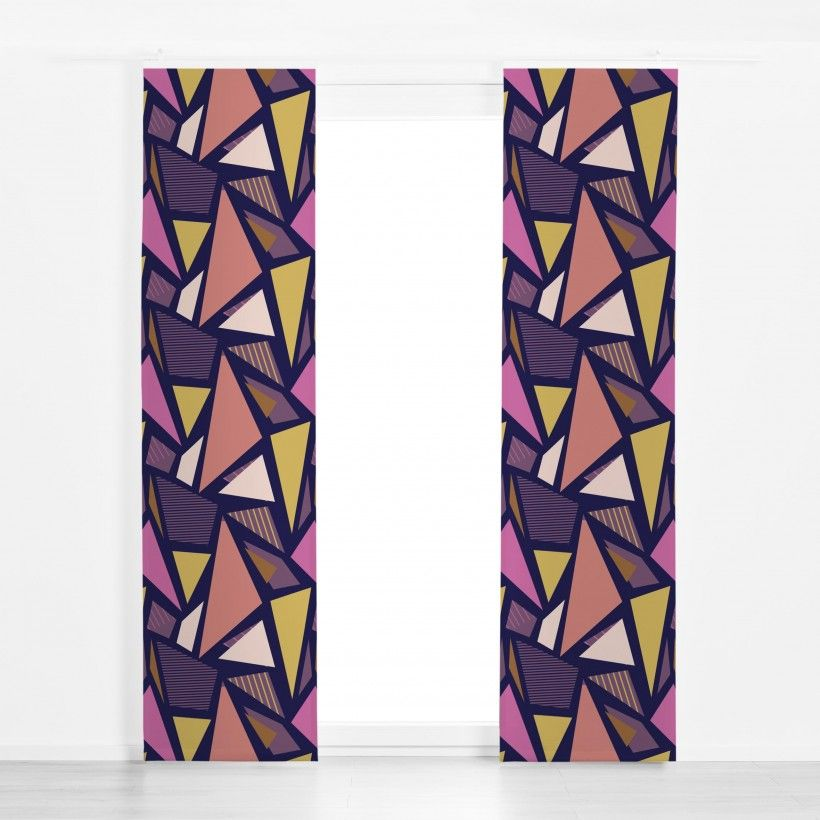 Panel curtain Color Blocking Triangles 2