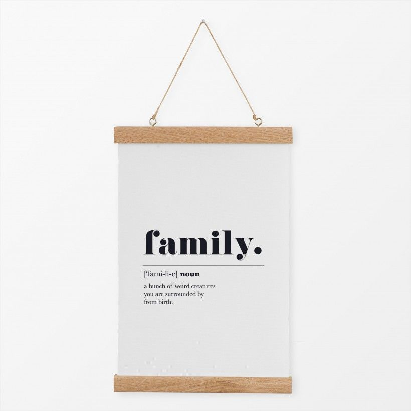 Textilposter Family