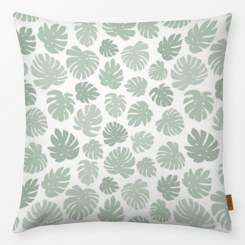 Kissen Mint Monstera