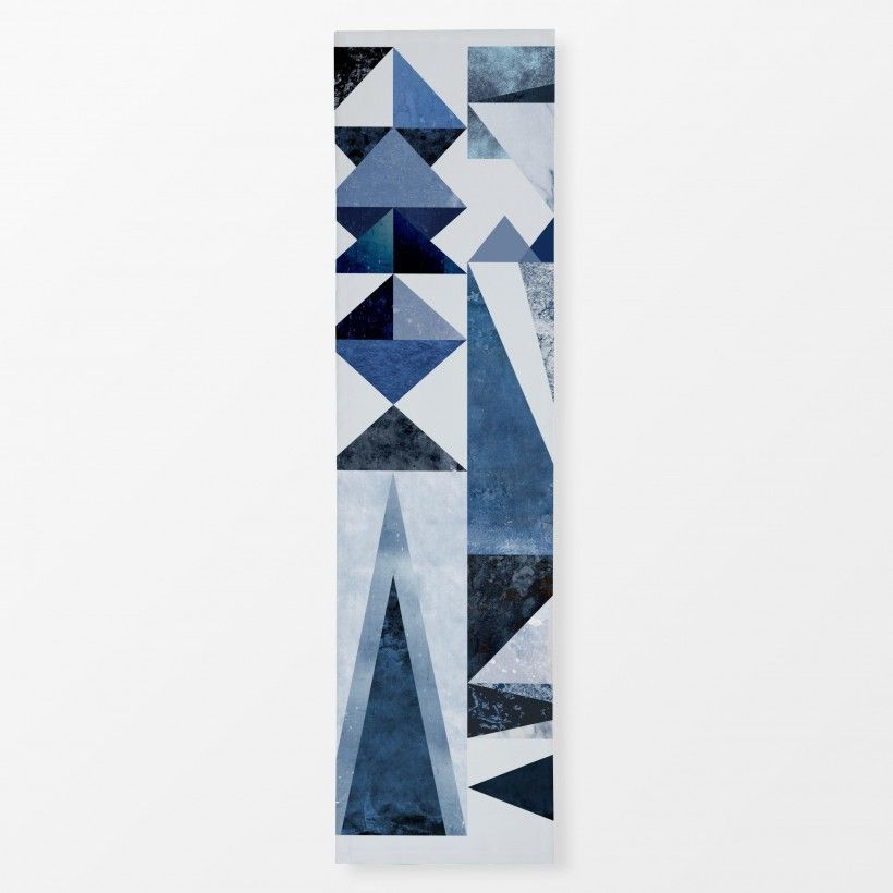 Table runner Blue Shapes