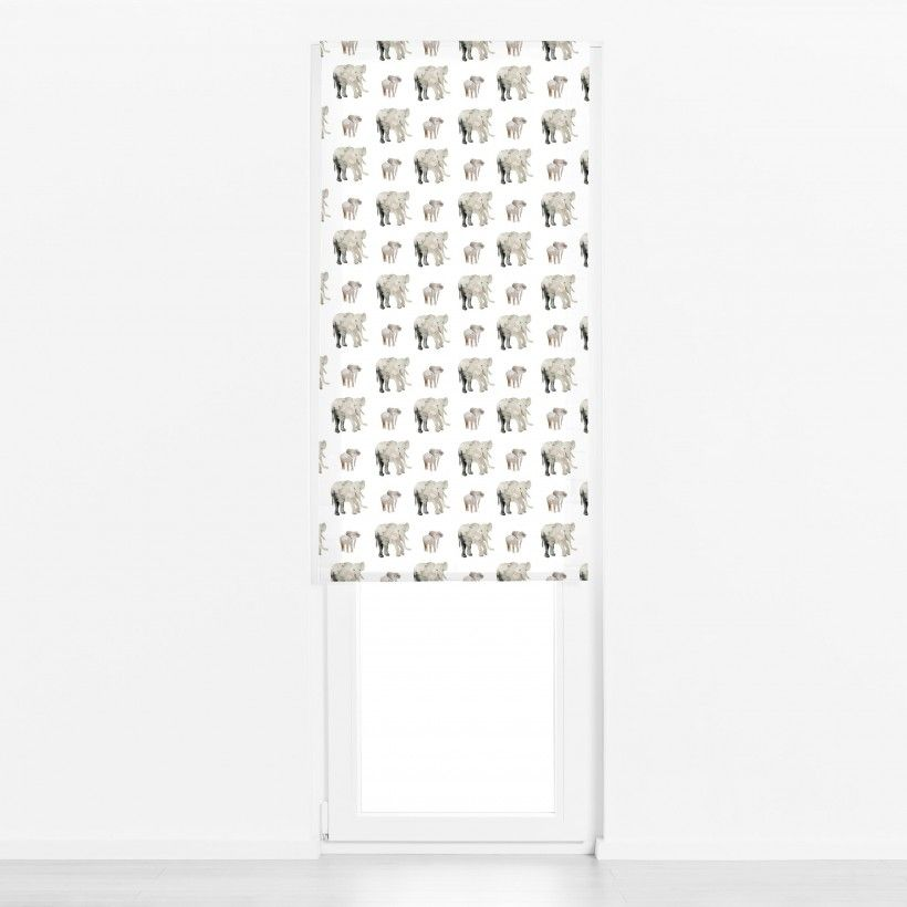 Roman blind Elephant Pattern