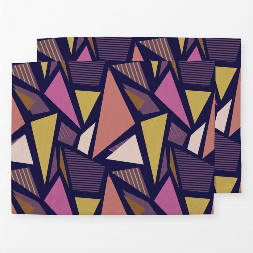 Tischset Color Blocking Triangles 2