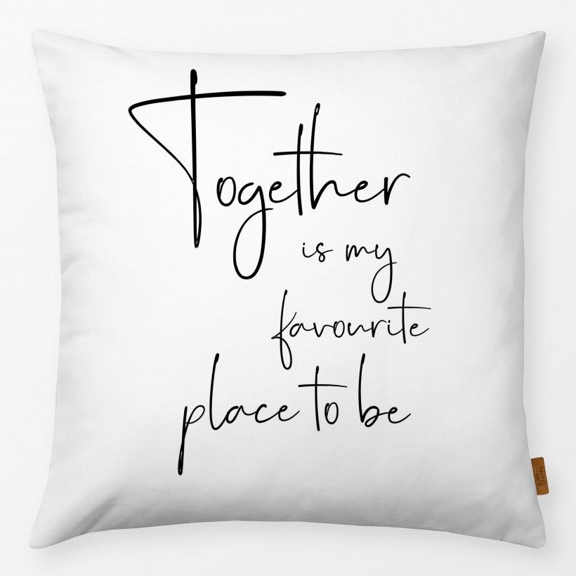 Kissen Together Quote