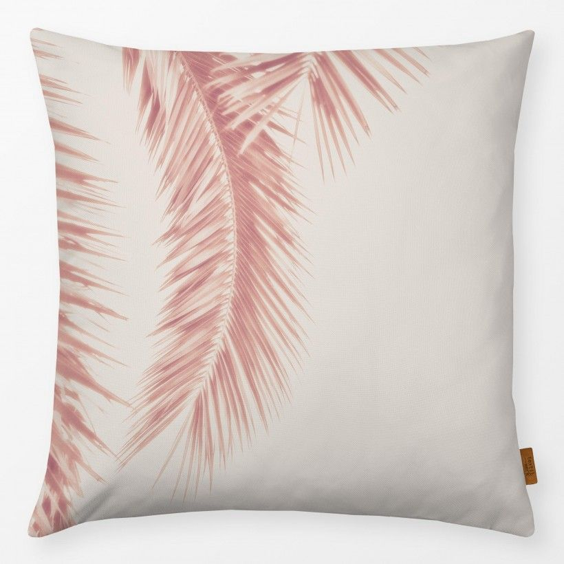 Kissen Rose Palm Leaves