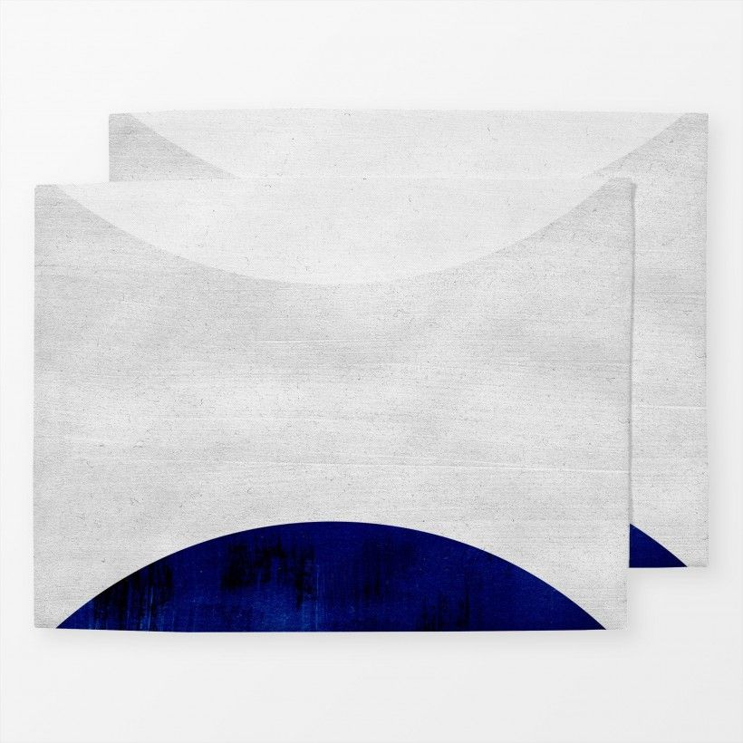 Table mat White & Cobalt