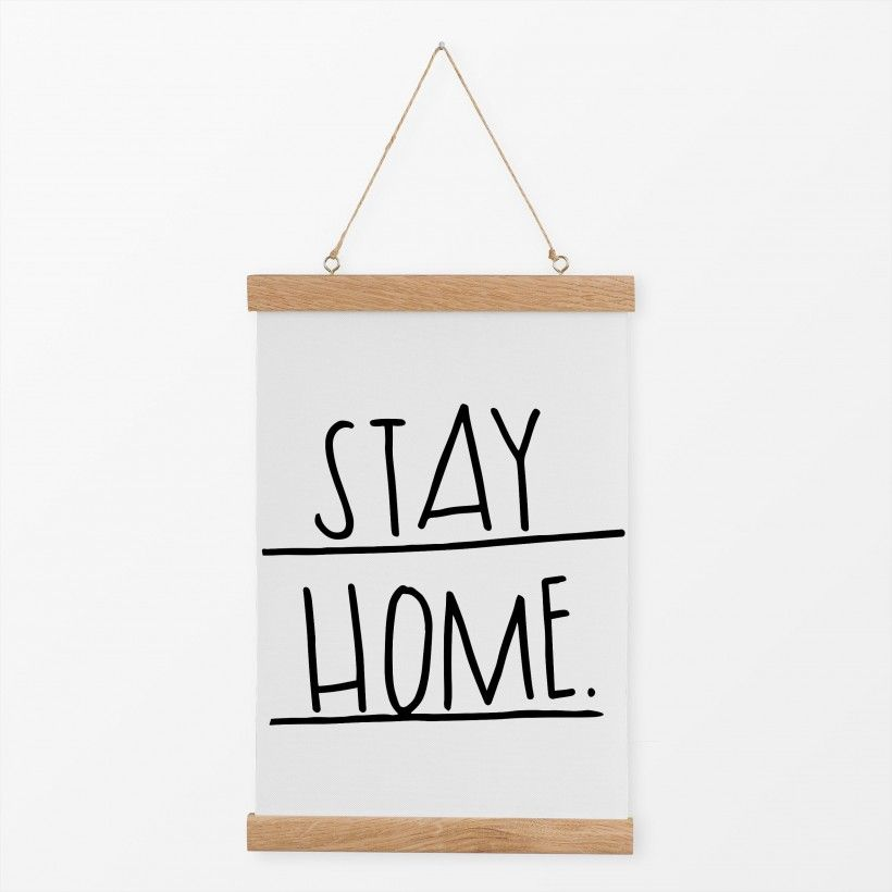 Textilposter stay home