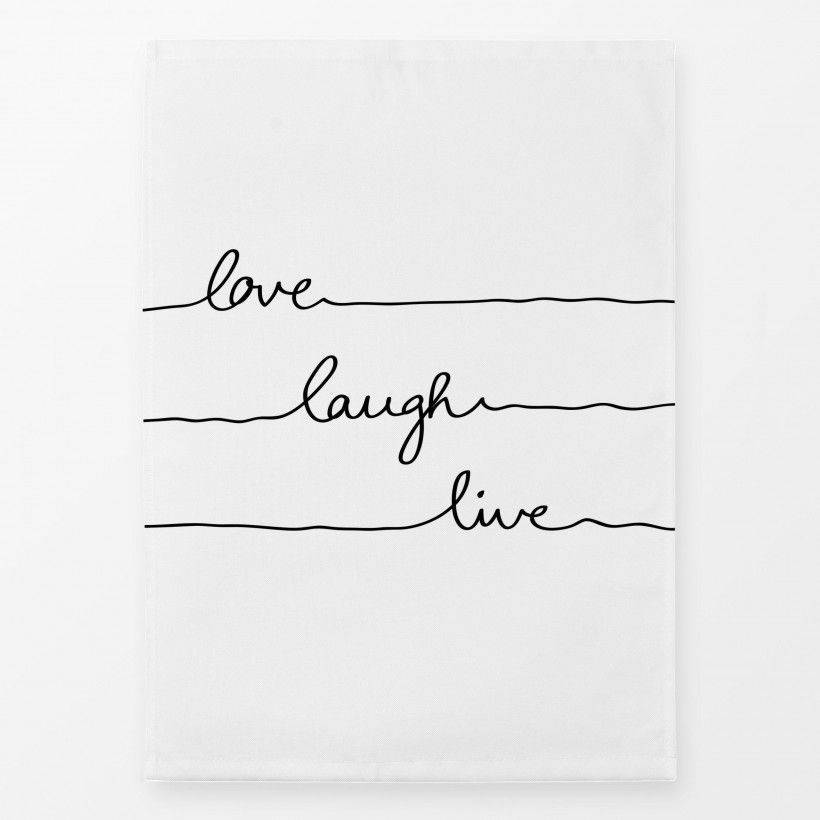 Geschirrtücher Love Laugh Live