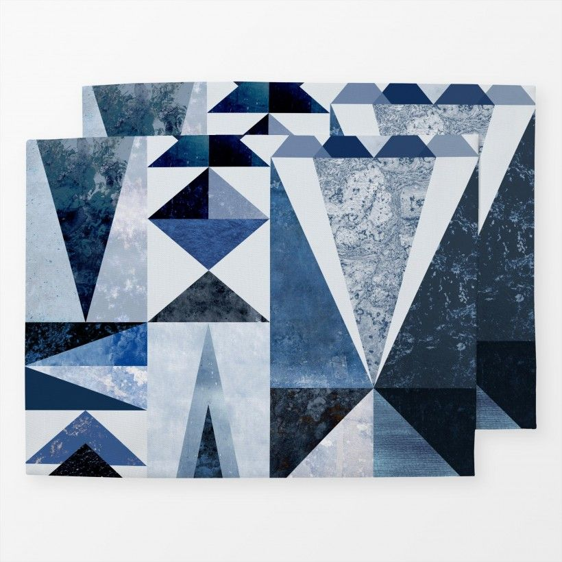 Table mat Blue Shapes