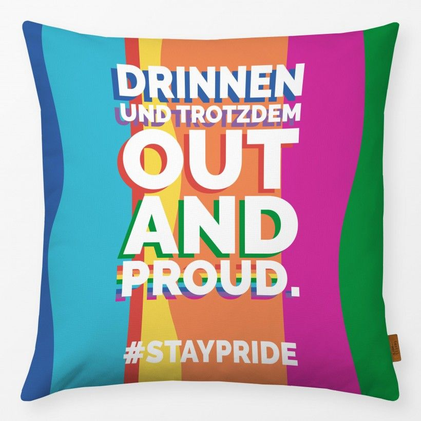 Kissen Out And Proud #staypride
