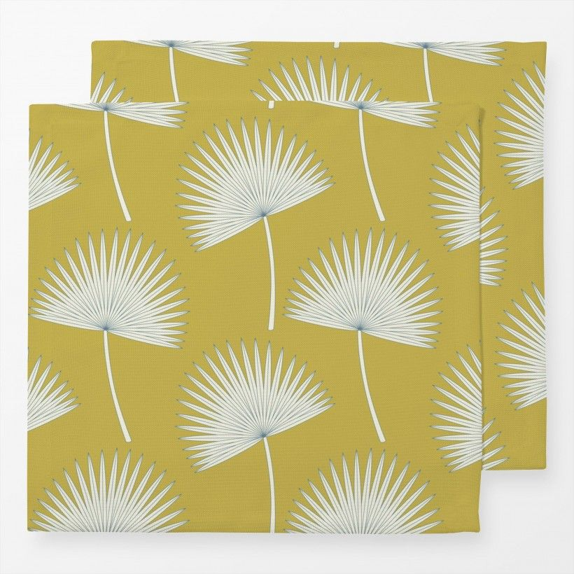 Servietten sunshine palm leave mustard