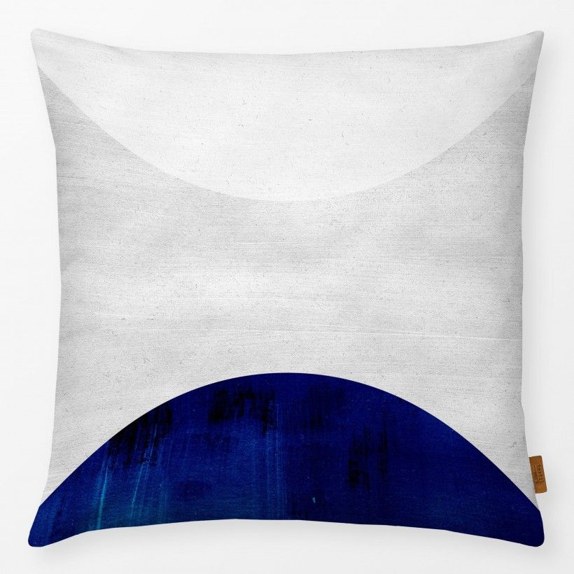 Pillow White & Cobalt