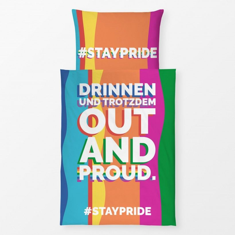 Bettwäsche Out And Proud #staypride