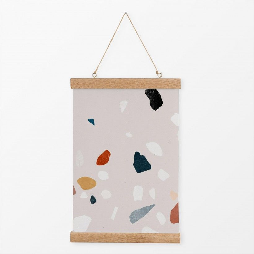 Textilposter Painted Terrazzo 4