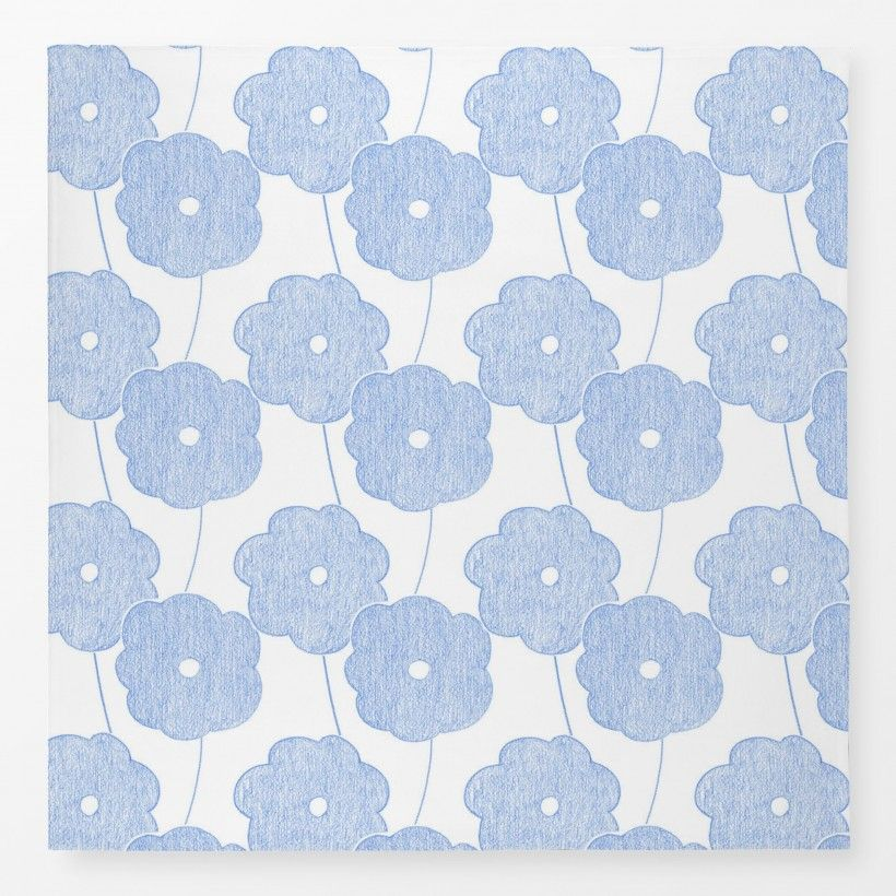 Tischdecke Big Crayon Flowers Blue