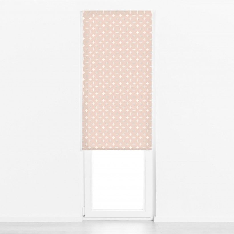 Roman blind Cross Peach