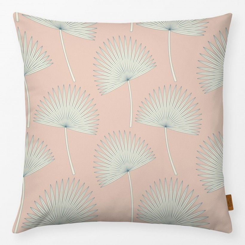 Pillow sunshine palm leave pink