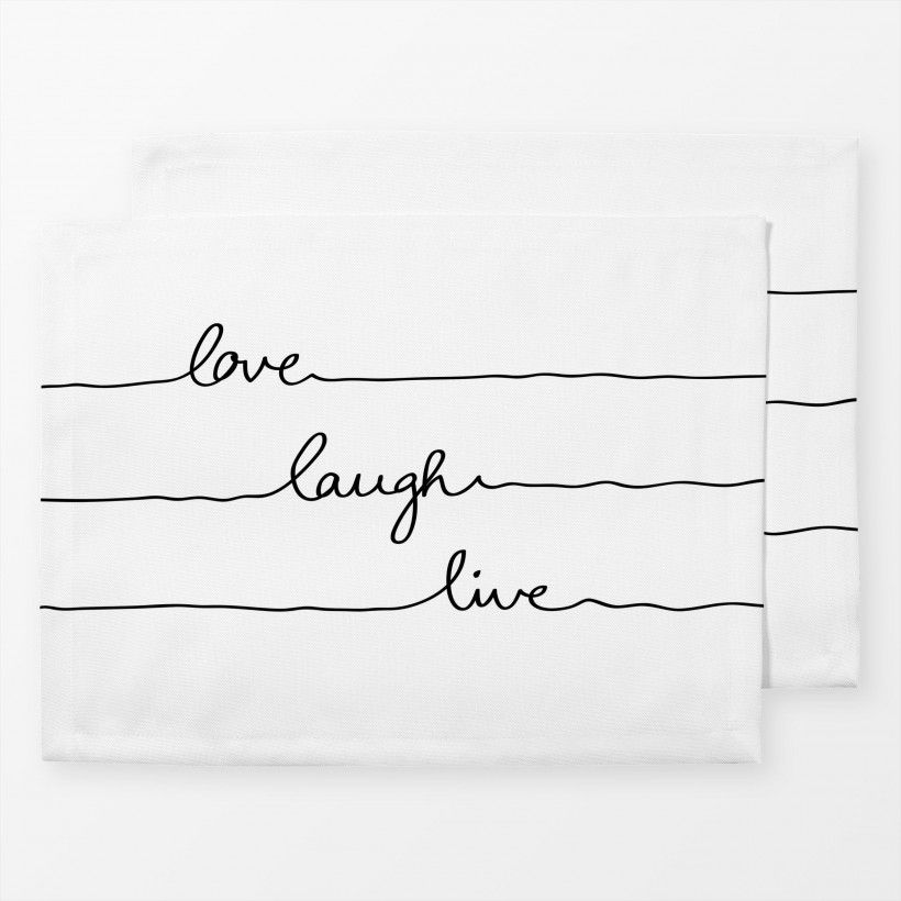 Tischset Love Laugh Live