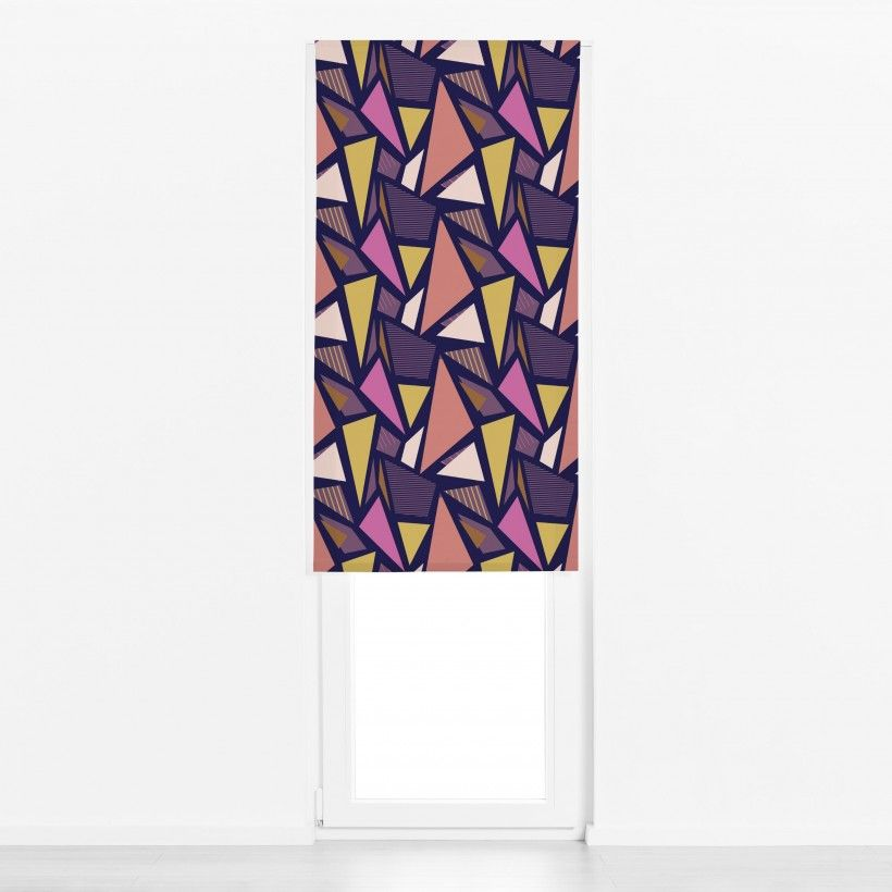 Roman blind Color Blocking Triangles 2