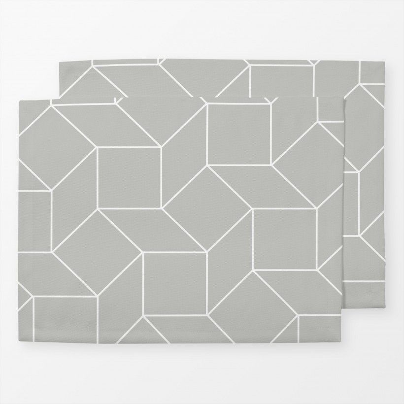 Tischset Grey Blocks